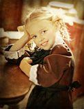 девочка, косички, ретро, форма, советский союз,