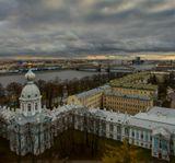 Петербург.Вид со звонницы Смольного собора.