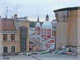 На крышах Петербурга можно увидеть ту же картину,что и на земле...