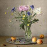 цветы абрикосы натюрморт