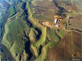 Снято с аэростата с высоты около 1 км в окрестностях Алма-Аты.