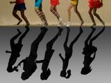 Тени тоже могут быть выразительными...фотоарт танец тени