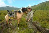 Лошадь фотографироваться категорически отказывалась.