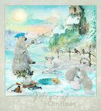 С Наступающим Новым годом друзья! Многое хочется написать и пожелать ВАМ...Главное - берегите Любовь, Веру, Надежду, друг друга! Будьте здоровы и счастливы, мирного неба нам всем над головой, в сердцах и домах!Пусть каждый из ВАС поймает свою золотую рыбку в Новом году и исполнятся самые заветные ваши мечты-желания!:) Большой мишка, медвежата, снегири и прочее, сфотографированы мной в течение 3-х лет.