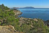 Вид на скалу Алчак-Кая и мыс Меганомс трассы Судак- Новый Свет