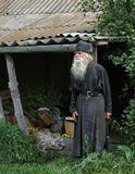 Монах-отшельник Иоанн любезно согласился показать нам свою келью-маленький заброшенный садовый домик рядом с мужским монастырём...