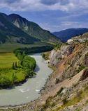Горный Алтай. Река Чуя вдоль Чуйского тракта недалеко от Курайских степей. (Фрагмент панорамы) Nikon D7000