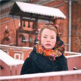Модель Ирина Штерк.Боярыня, Морозова, зима, Москва, храм.