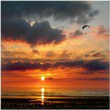 Закат на Финском заливе.