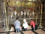 Одна из главных христианских святынь, которая находится перед входом в Храм Гроба Господня (является 13-й остановкой «Крестного пути»). Камень помазания источает миро, поэтому паломники, посещающие храм прикасаются к камню и кладут на него нательные крестики, иконы, свечи, собирают платками благодатное миро, исцеляющее от недугов.