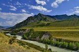 Горный Алтай. Река Чуя вдоль Чуйского тракта.