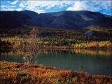 Хибины. Вокруг маленьких озёр под перевалом Северный Чоргорр можно бродить часами. :-)Fuji 6x4.5, Fuji Velvia 100