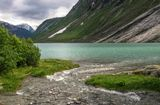Ледниковое озеро Нигардсбреватнет. Норвегия