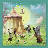 ВАС поздравляет с ПАСХОЙ: музыкант Кузя с волшебной скрипкой, маэстро Почини, акробатка Масяня, режиссер-фотограф Кролик и моя персона. Благодати и радости ВСЕМ!:)
