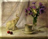 натюрморт, цветы, ретро