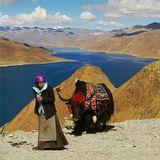 оз. Ямджо-Юмцо - «Бирюзовое озеро» (Yangzhuoyongcuo), Китай, Тибет4488 метров над уровнем моря
