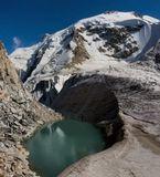 озеро Укю, расположено на перевале Укю, на высоте 3850м, возвышается вершина горы Думала (4600м), Безенги, Балкария...