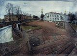 Фишайный вид с Красногвардейского моста