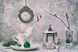 натюрморт, ягоды, игрушки, новый год, праздник, листья барбариса