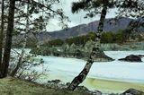 Природные волнорезы на Катуни. Март-16.
