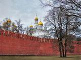 Архангельский собор за кремлевской стеной. Москва. 29.03.2016