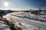 Суздаль.  Вид на речку Каменка и Покровский женский монастырь.