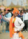 Танцор из Раджастана на ежегодной ярмарке в Дели.Индия, Дели, танцор, ярмарка
