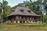 """Дом бывшего президента Сейшел. Это ветхое бунгало получило всемирную известность после фильма """"Прощай, Эммануэль""""!"""