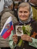 """""""...Это - мамочка моя. Звали Ниной. Пережила блокаду Ленинграда, с боями дошла до Берлина. А два года назад умерла в 98 лет. Светлая память ей и Царствие Небесное!...""""Севастополь, 9 мая 2017."""