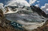 Безенги, перевал Укю(3900м), вершина Думала (4560м), ледник Укю, Кавказские горы...