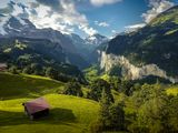 венген, швейцария, альпы