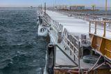 Черное море, порт, пирс, Одесса, зимнее море.