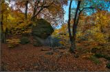 Крым, Осень, скалы, ручей, деревья