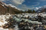 река Баксан, Приэльбрусье, Кавказ...