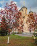 Осень, храм, рябина