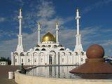 """Мечеть """"Нур Астана"""" - как символ возрождения национально-религиозной жизни. По своим размерам занимает второе место в Центральной Азии. Находится в г.Астана, Казахстан"""