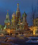 Москва, Кремль, Спасская, башня, Собор, Василия Блаженного, Покровский
