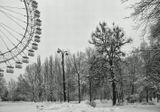 Вечер. Измайловский парк. Мокрый снег.