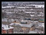 г. Владимир, Смотровая площадка. Вот столько снега было во Владимире 11 ноября этого года.