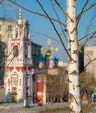 Москва, храм, весна, солнце, берёзка, настроение
