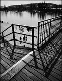 Mесто фотографирования, железнодорожный мост -Прага-2