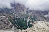 Вид с горы Tofana ди Меццо-3244 м. , Доломиты, Италия.