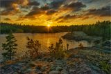 Карелия, Ладожское озеро, вечер