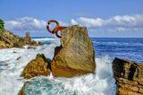 Скульптура  «Гребень Ветра»  Эдуардо Чиллиды, Сансебастиан, Испания