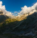 ущелье Адырсу, вершины Уллутау, Адырсу, Балкария, Кавказ....