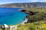 """Остров Андрос. Пляж называется в переводе с греческого """"Прыжок старухи"""""""