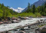 р. Аккем, гора Белуха, Алтай.
