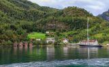 Норвегия. Берег Согне-фьорда.