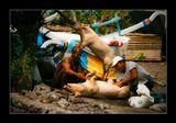 о.Бали, традиционная подготовка к празднованию католического Рождества..
