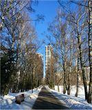 зима, парк, Москва